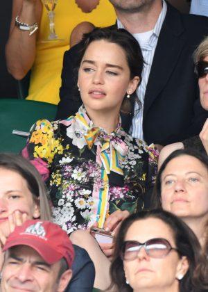 Emilia Clarke - Mens Singles Final at Wimbledon Tennis Championships in London