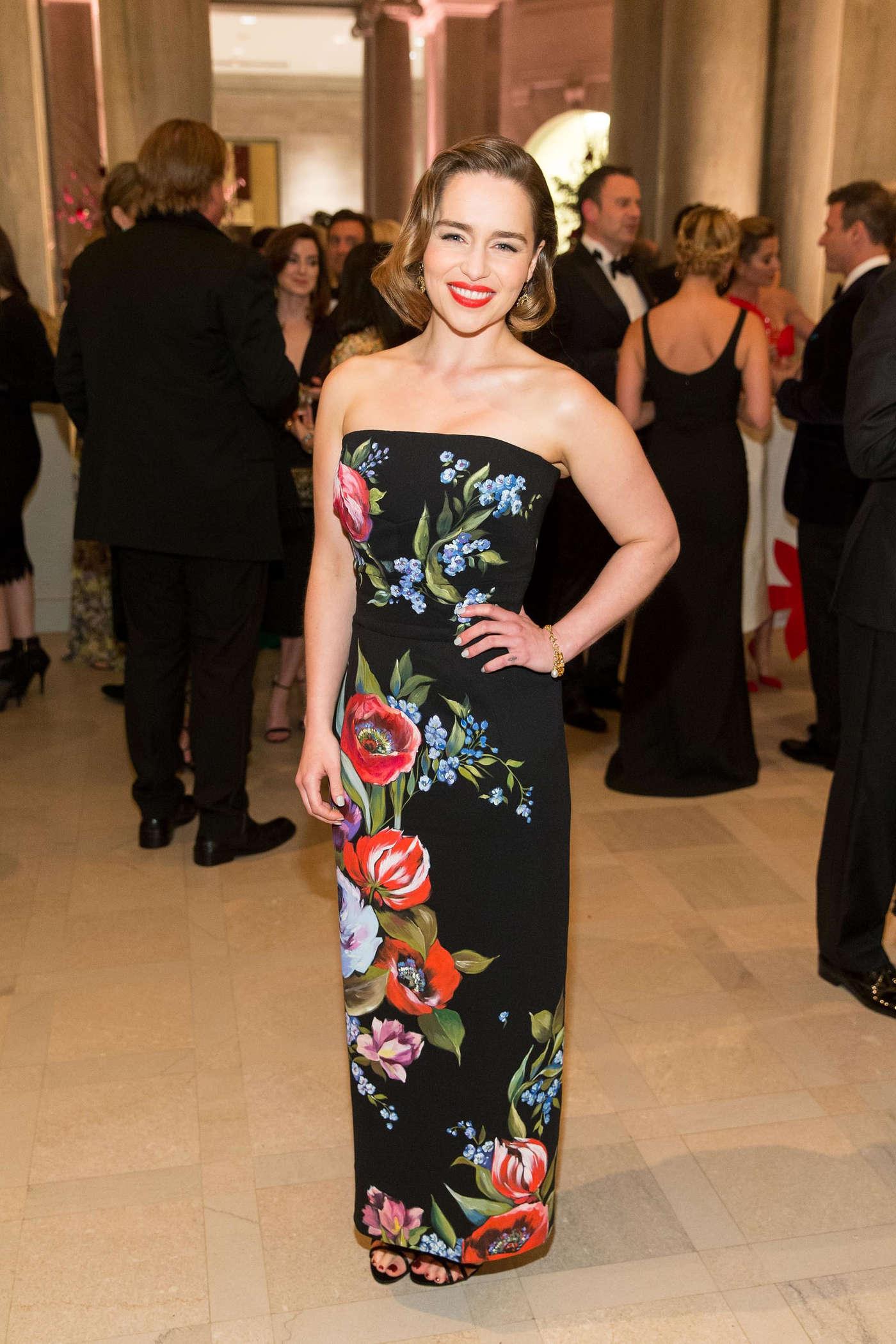 Emilia Clarke - Mid Winter Gala Foundraising in San Francisco