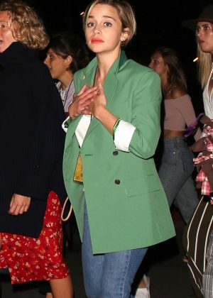 Emilia Clarke - Night out watching Florence+The Machine at the Hollywood Bowl