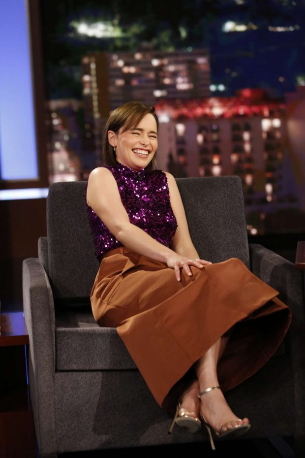 Emilia Clarke - On Jimmy Kimmel Live! in Los Angeles