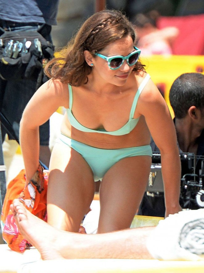 Emilia Clarke in Bikini on set of 'Me Before You' in Spain