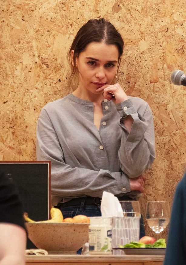 Emilia Clarke - On stage of her new West End theatre play 'The Seagull' in London