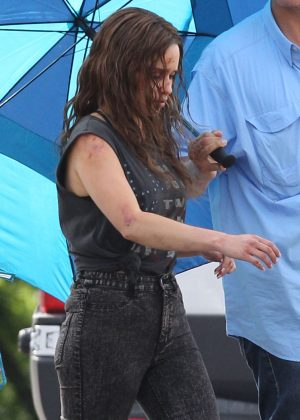 Emilia Clarke - On the set of 'Above Suspicion' in Los Angeles