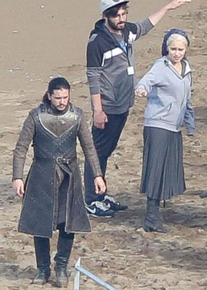 Emilia Clarke - On the set of 'Game of Thrones' in Zumaia