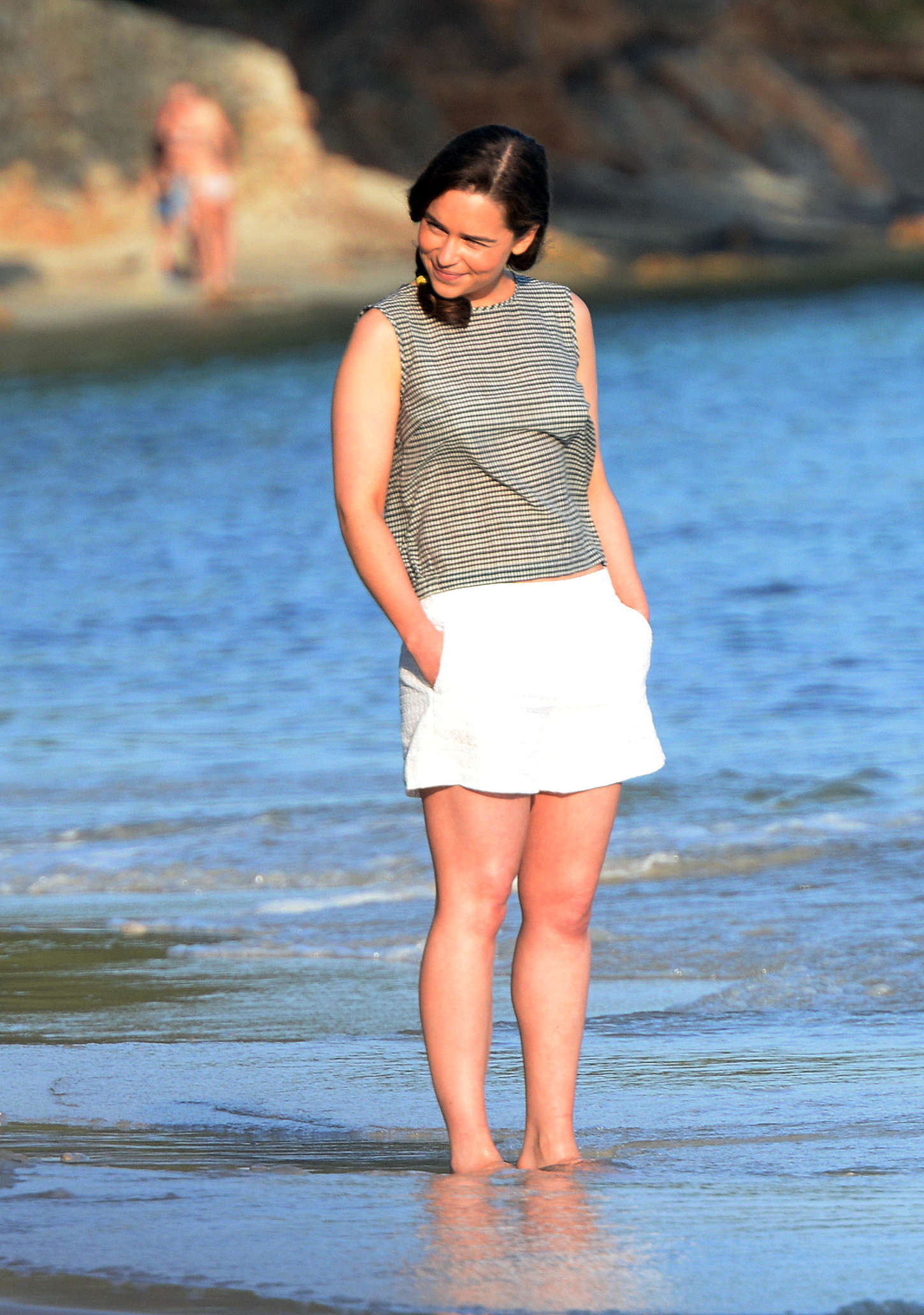 Emilia Clarke - On the set of 'Me Before You' in Majorca
