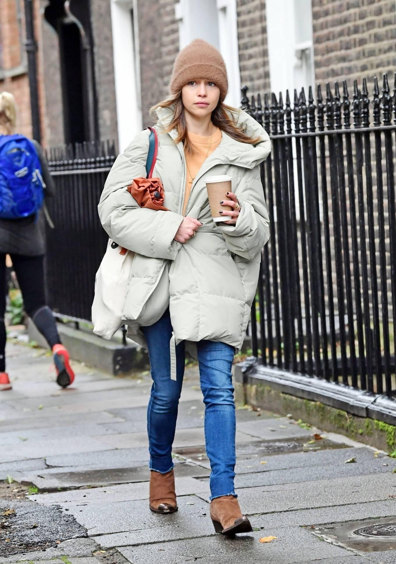 Emilia Clarke 2020 : Emilia Clarke – Out in London-01