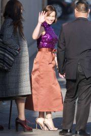 Emilia Clarke - Outside Jimmy Kimmel Live! in Hollywood