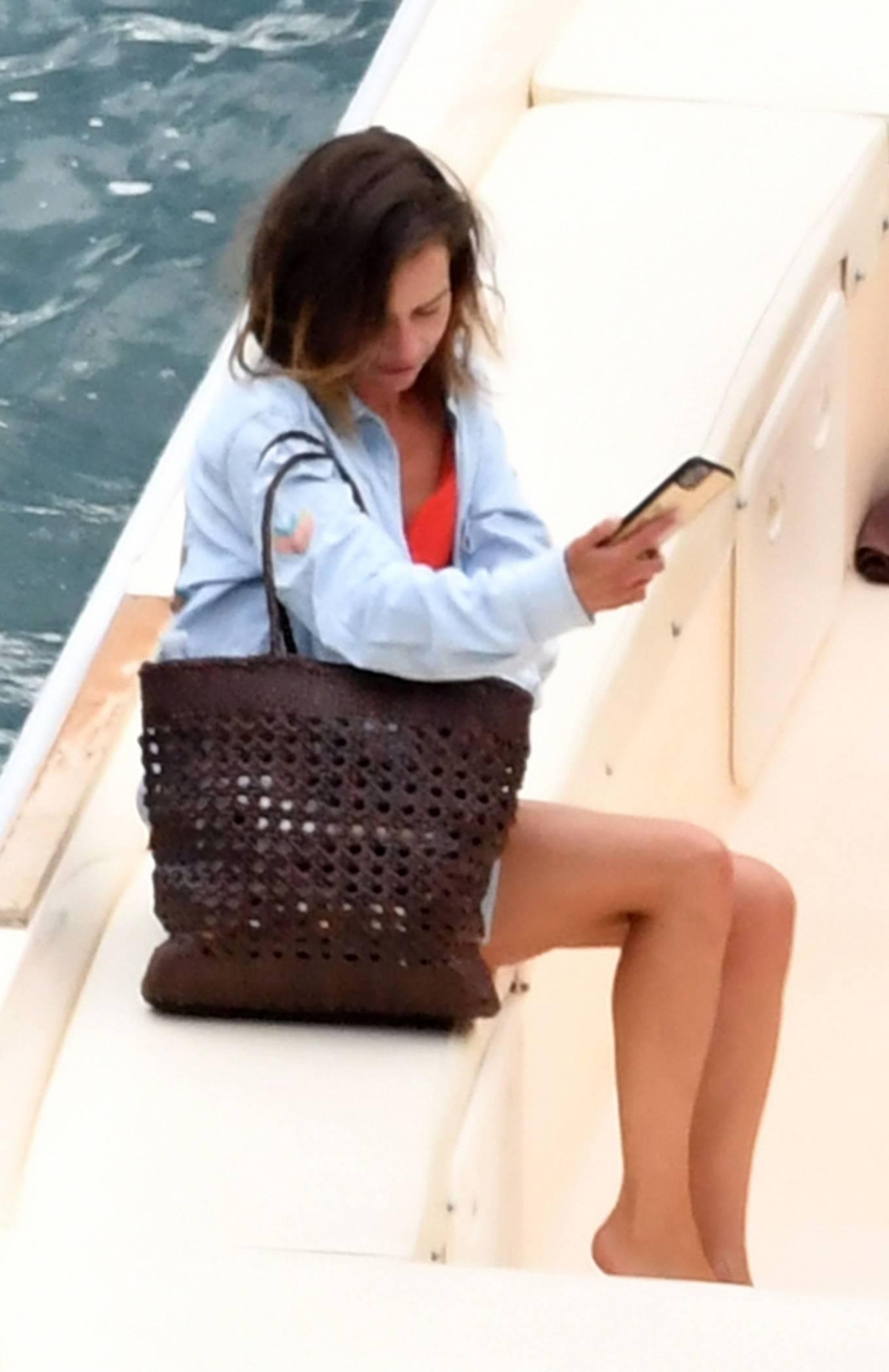 Emilia Clarke seen on her holiday break out in Positano