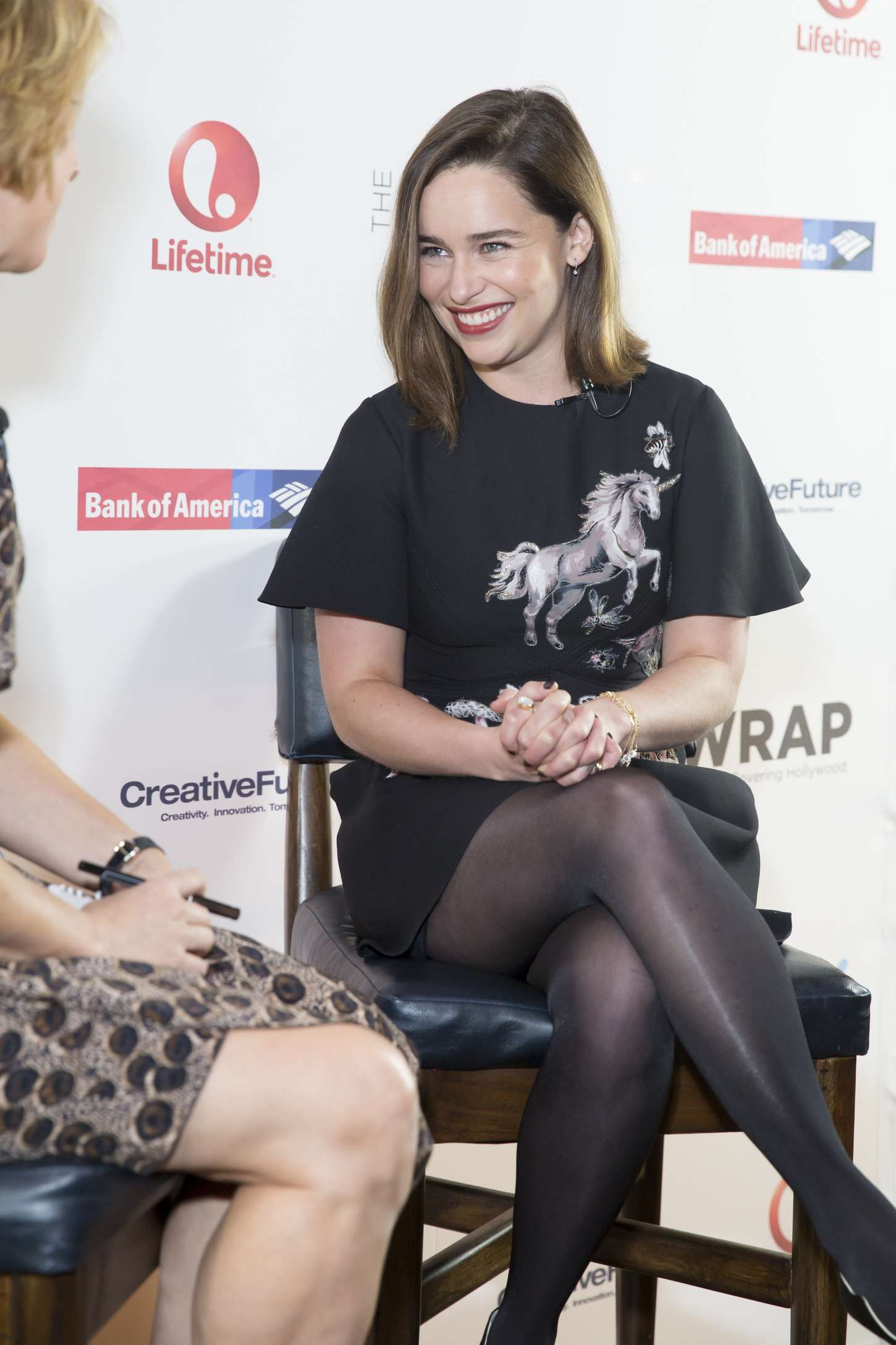 Emilia Clarke Pantyhose
