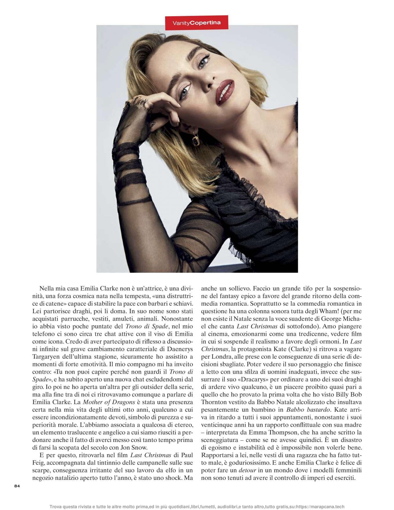 Emilia Clarke 2019 : Emilia Clarke – Vanity Fair Italy 2019-01