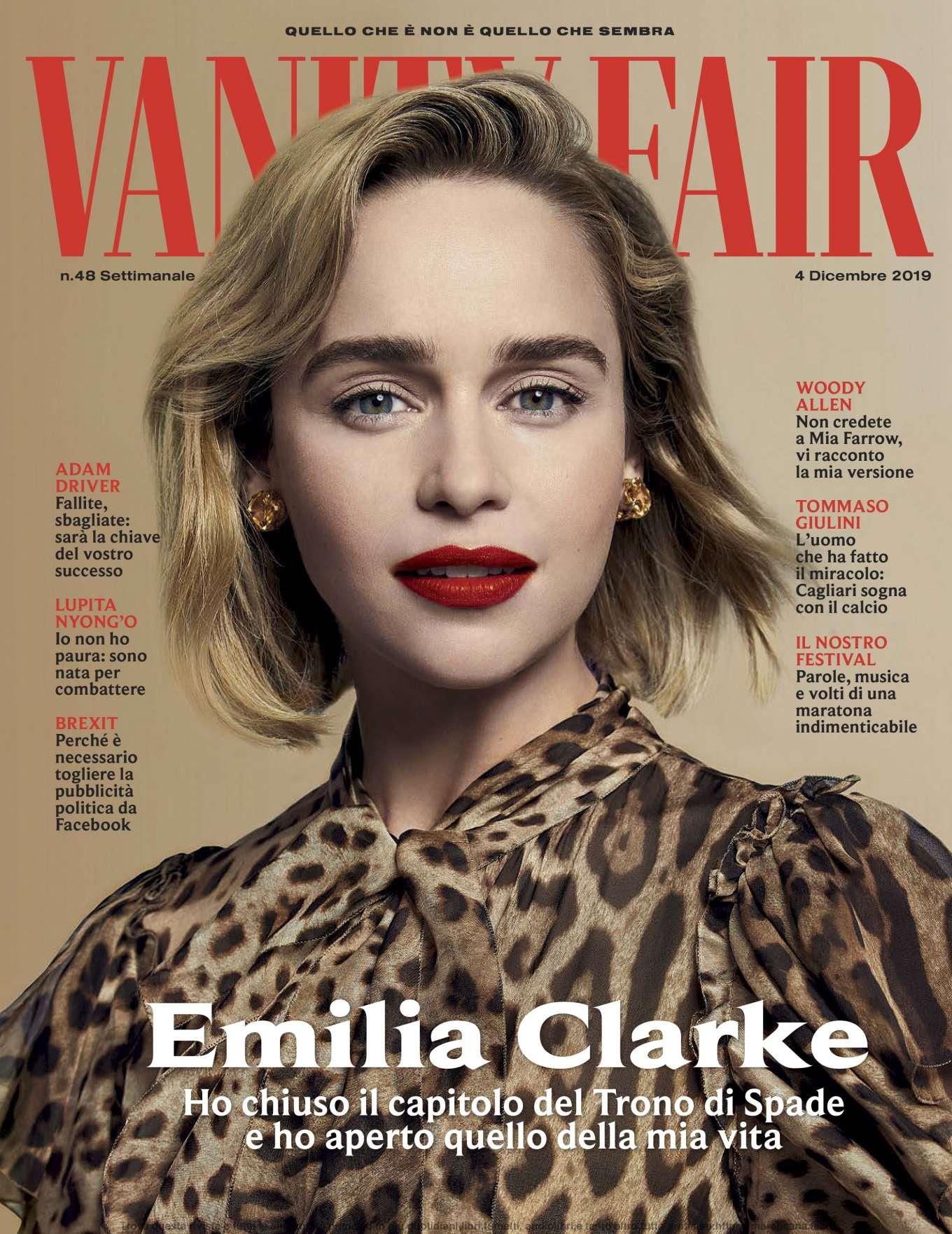 Emilia Clarke 2019 : Emilia Clarke – Vanity Fair Italy 2019-04