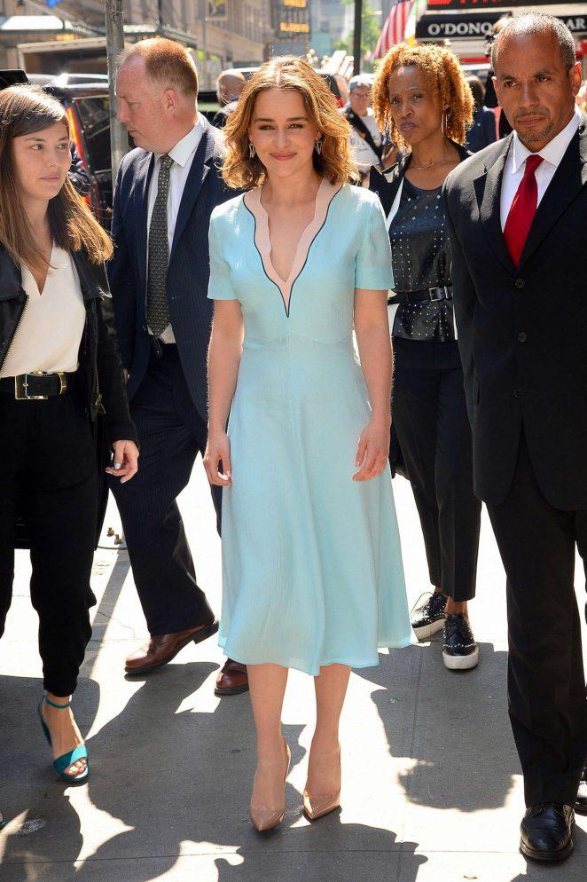 Emilia Clarke: Visiting Good Morning America -01