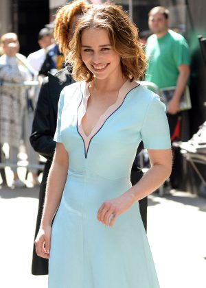 Emilia Clarke - Visiting Good Morning America in New York City