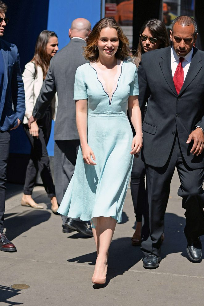 Emilia Clarke: Visiting Good Morning America -16