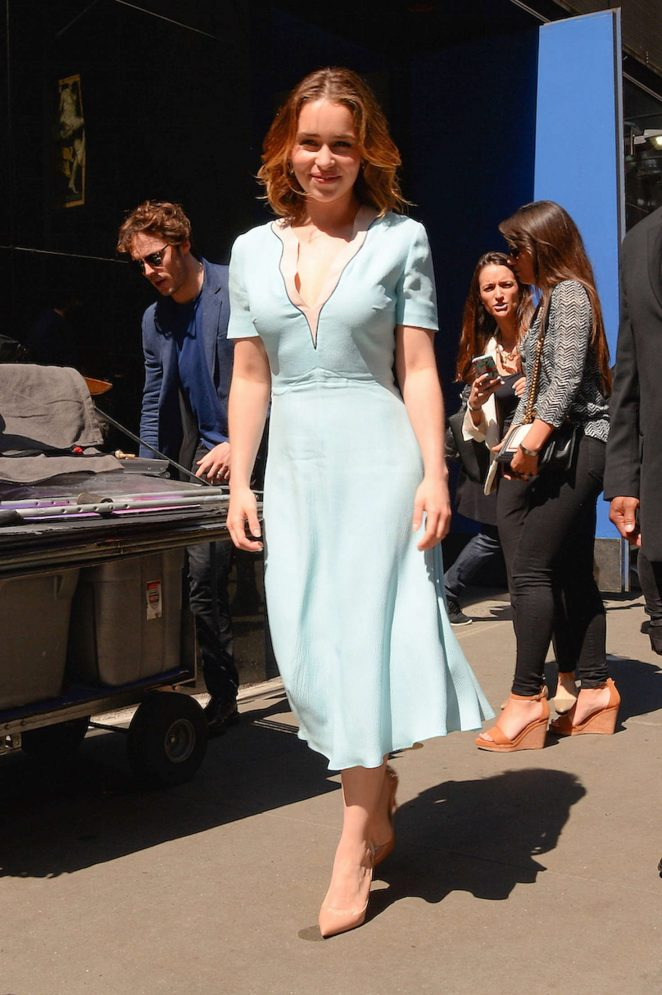 Emilia Clarke: Visiting Good Morning America -17