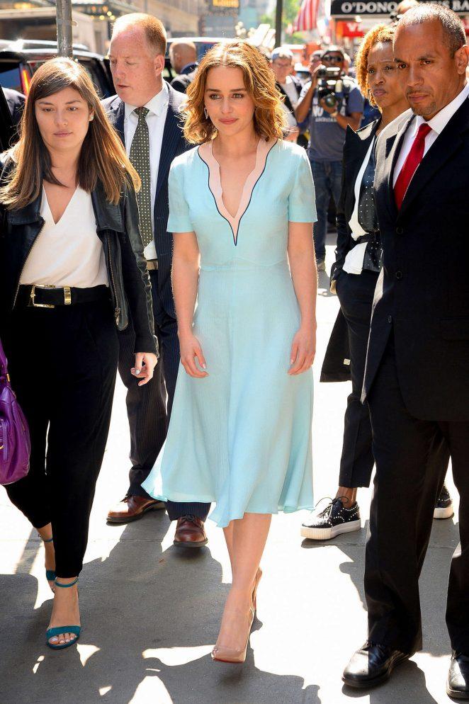 Emilia Clarke: Visiting Good Morning America -18