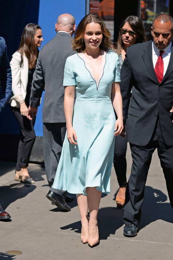 Emilia Clarke: Visiting Good Morning America -19