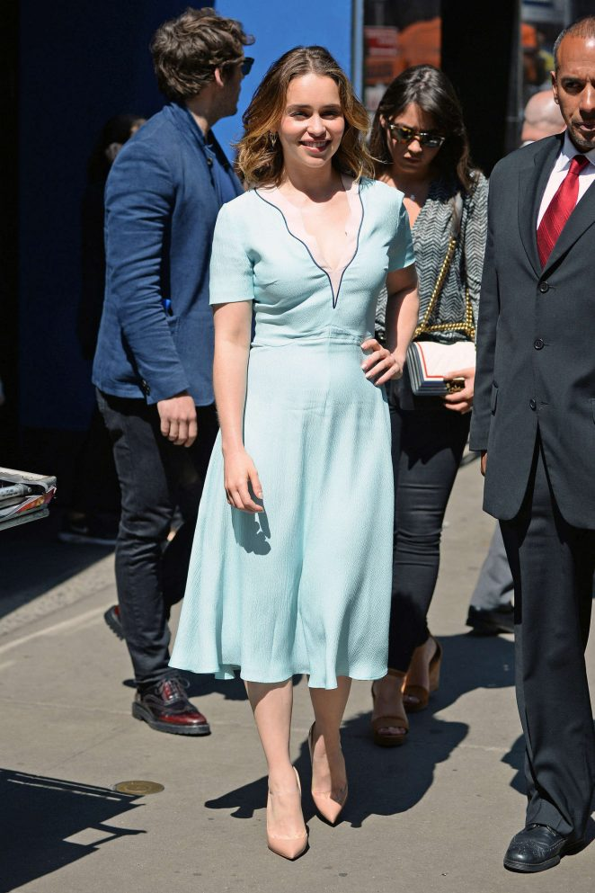 Emilia Clarke: Visiting Good Morning America -24