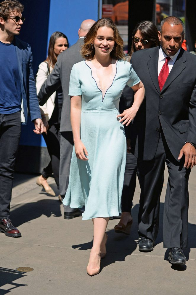 Emilia Clarke: Visiting Good Morning America -25
