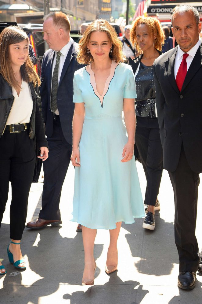 Emilia Clarke: Visiting Good Morning America -26
