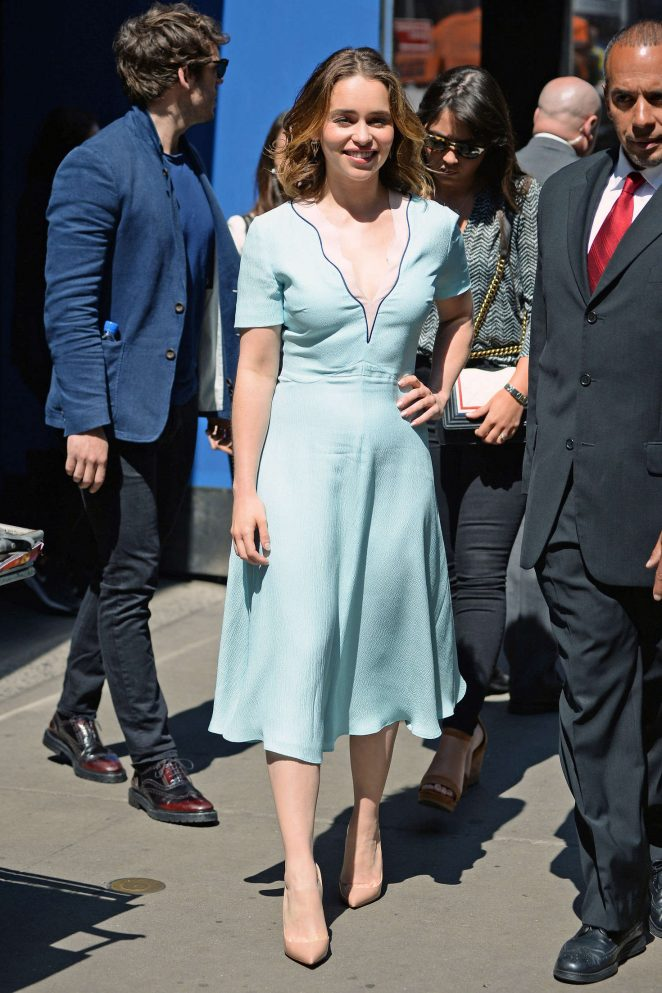 Emilia Clarke: Visiting Good Morning America -29