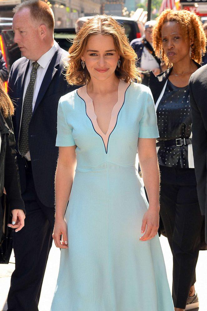 Emilia Clarke: Visiting Good Morning America -35