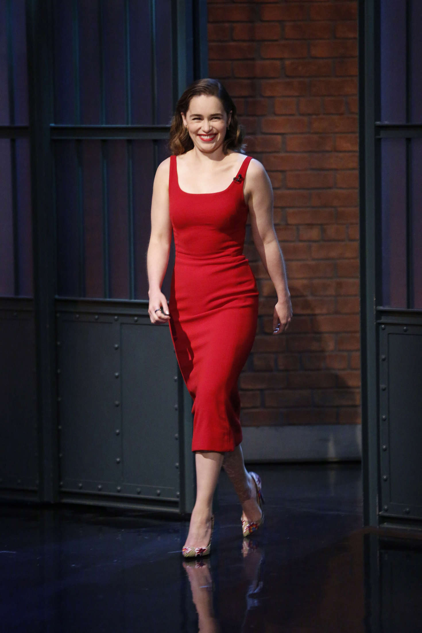 Emilia Clarke: Visits Late Night with Seth Meyers -06 ...