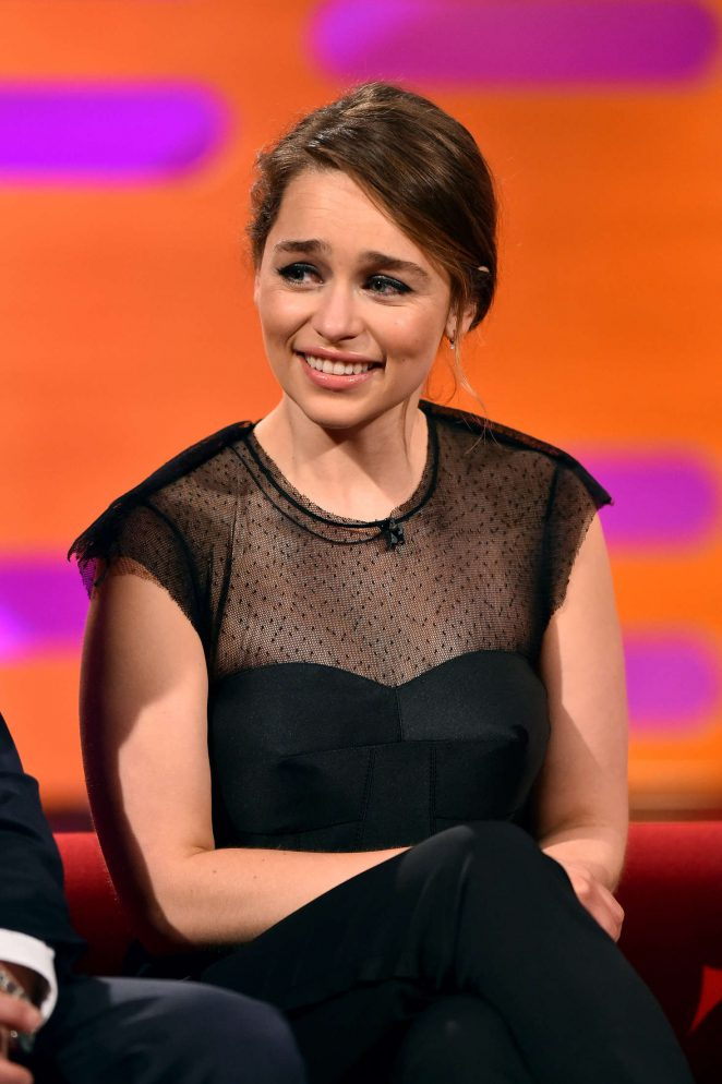 Emilia Clarke - Visits 'The Graham Norton Show' in London