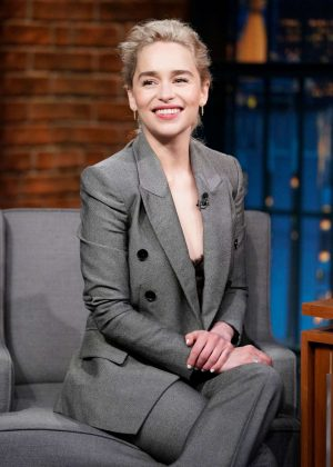 Emilia Clarke - Visits the 'Late Night with Seth Meyers' in New York