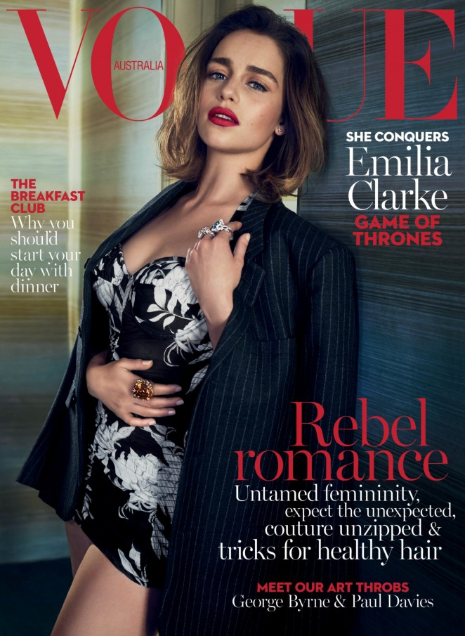 Emilia Clarke - Vogue Australia Cover (May 2016)