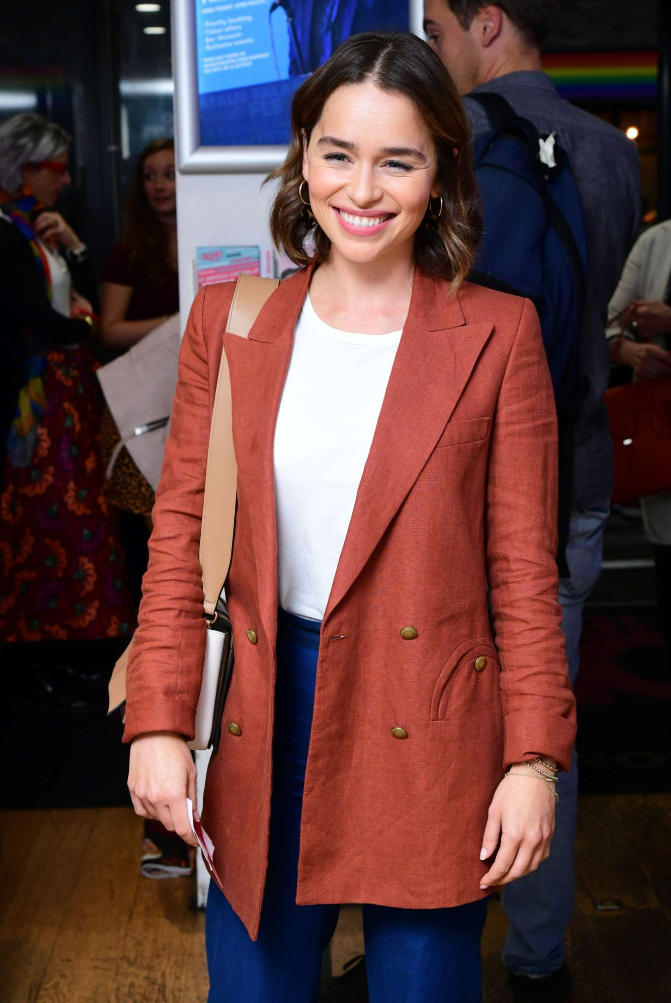 Emilia Clarke - What Girls Are Made of Press Night in London