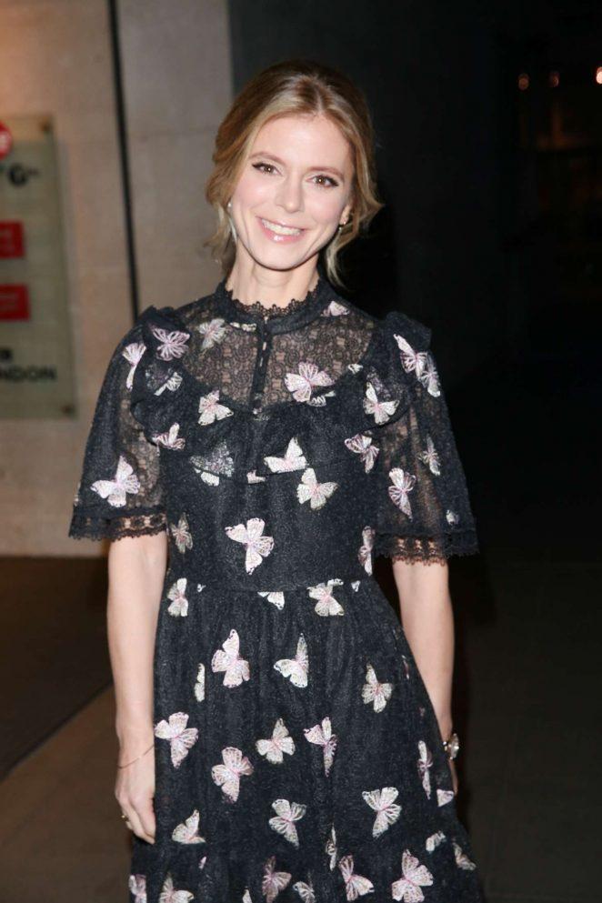 Emilia Fox - Exiting the BBC Studios in London