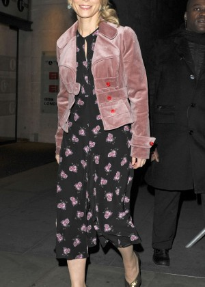 Emilia Fox - Leaving the One Show in London