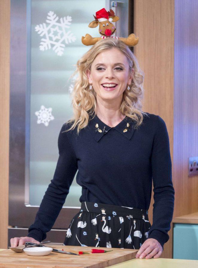 Emilia Fox on 'Christmas Brunch' TV show in London