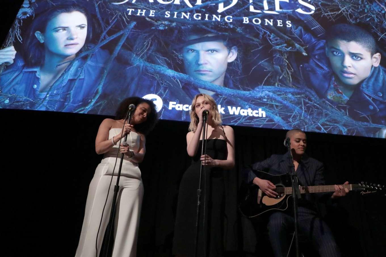 Emily Alyn Lind 2020 : Emily Alyn Lind – In black dress at Sacred Lies: The Singing Bones premiere in Los Angeles-01