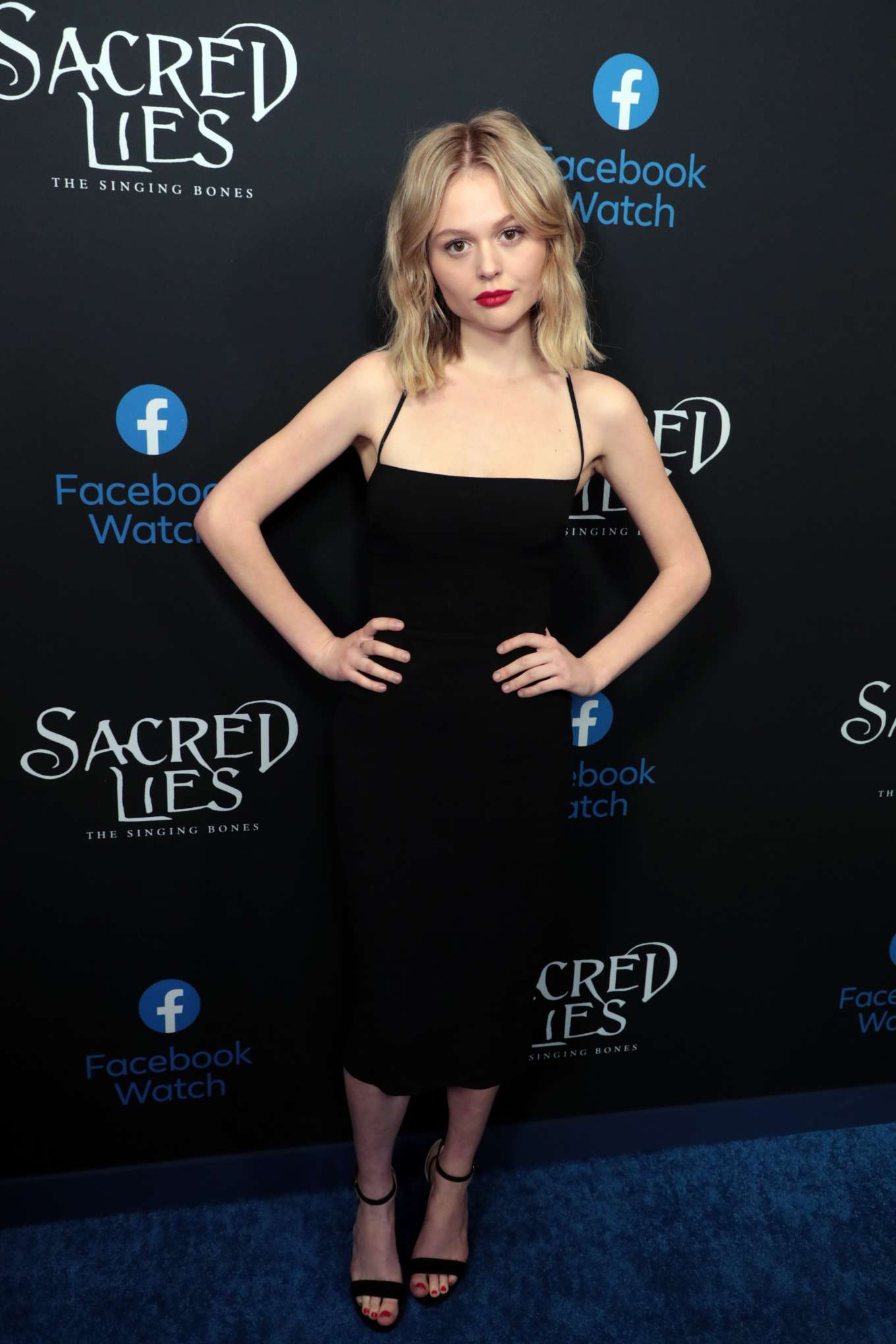 Emily Alyn Lind 2020 : Emily Alyn Lind – In black dress at Sacred Lies: The Singing Bones premiere in Los Angeles-09