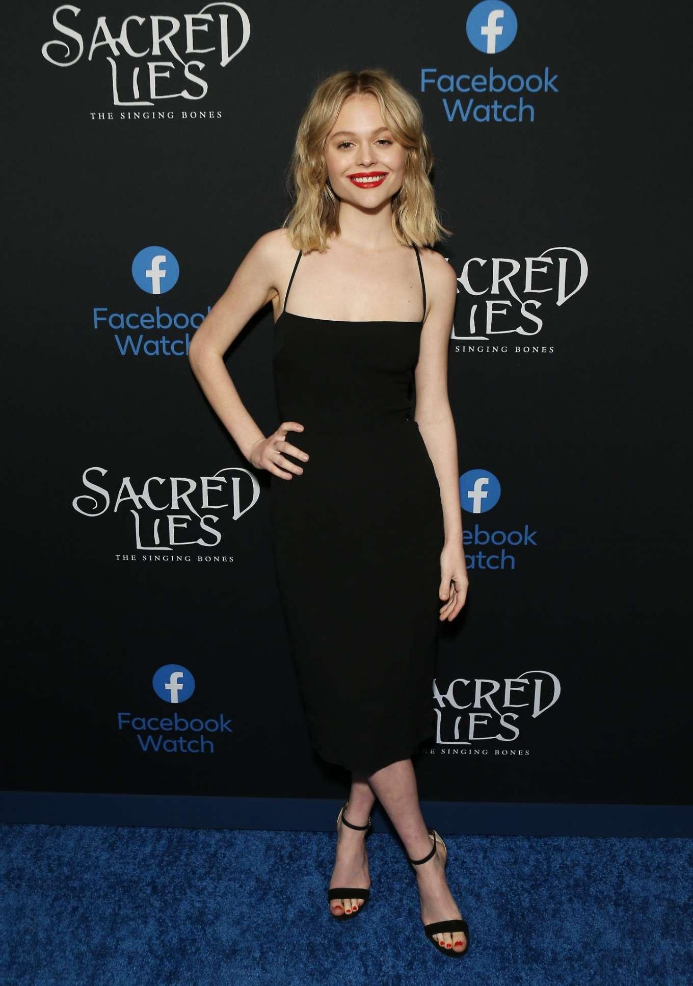 Emily Alyn Lind 2020 : Emily Alyn Lind – In black dress at Sacred Lies: The Singing Bones premiere in Los Angeles-12