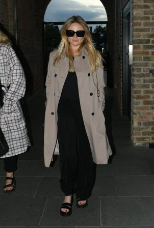 Emily Atack - Arrives at Parrillan restaurant in Coal Drops Yard in London