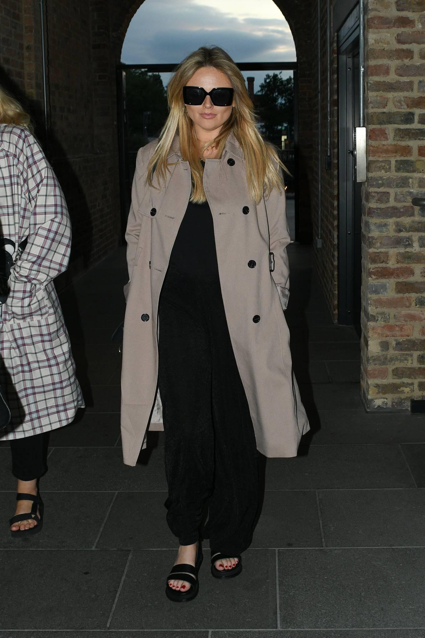 Emily Atack - Arrives at Parrillan restaurant in Coal Drops Yard in London