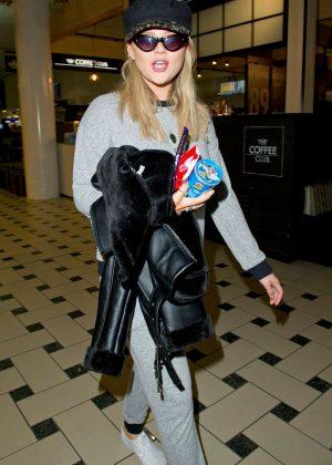 Emily Atack - Arriving at Brisbane Airport in Australia