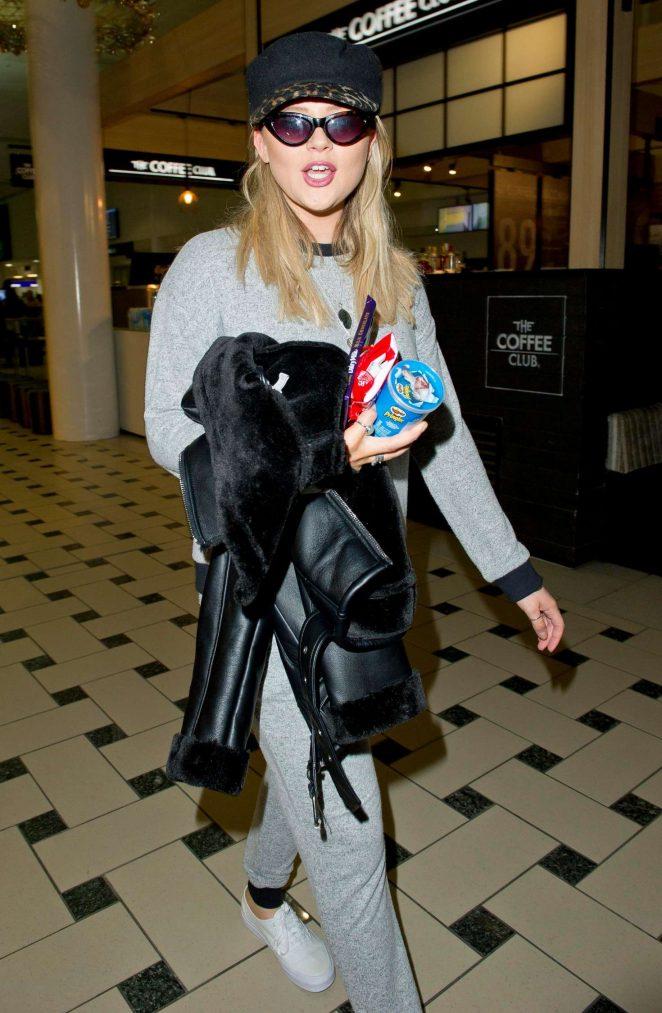 Emily Atack – Arriving at Brisbane Airport in Australia