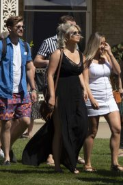 Emily Atack - Arriving for the House Festival in Hampstead