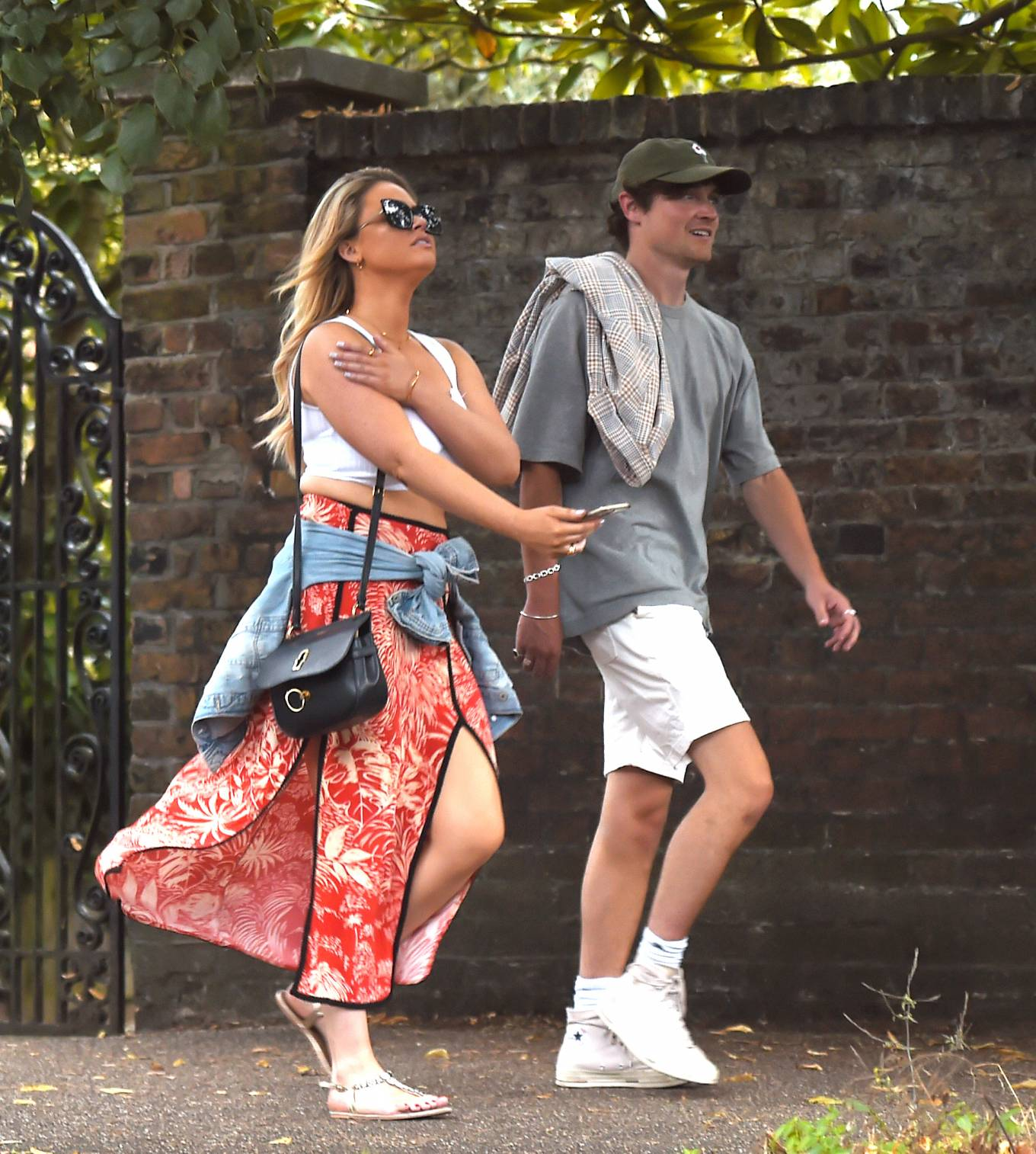 Emily Atack 2020 : Emily Atack at daytime date with a mystery man at The Flask pub in Highgate-02
