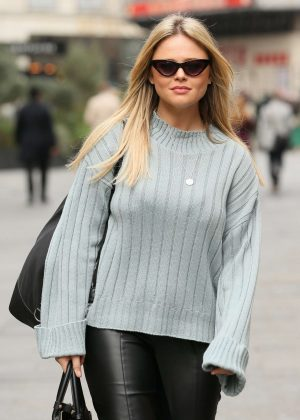 Emily Atack - Global Studios in London