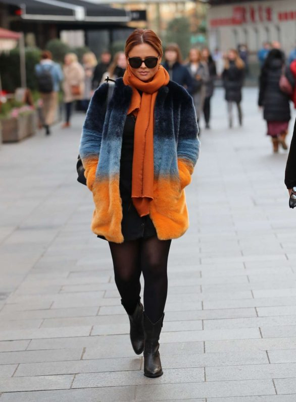 Emily Atack - Leaving Global Offices in London