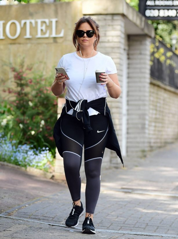 Emily Atack - Look sporty while out for a walk in London