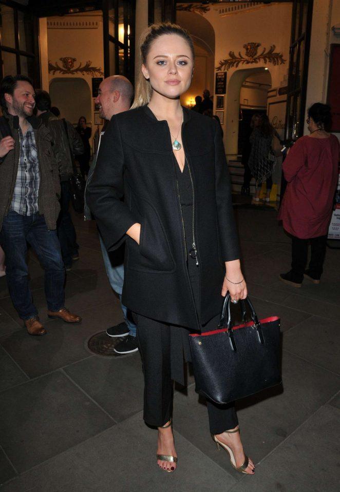 Emily Atack - 'My Family: Not The Sitcom' Press Night in London
