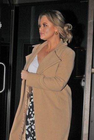 Emily Atack - Night out at Restaurant Story in London