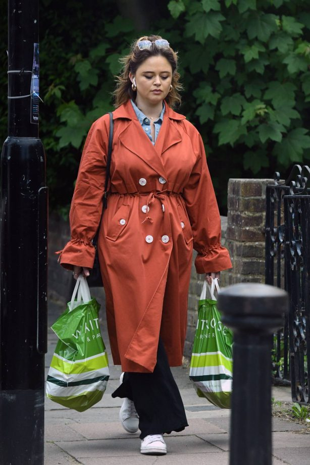 Emily Atack - Out and about in London