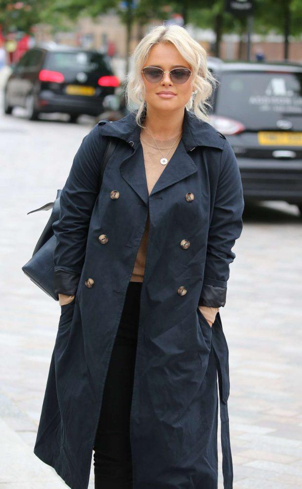 Emily Atack - Outside ITV Studios in London